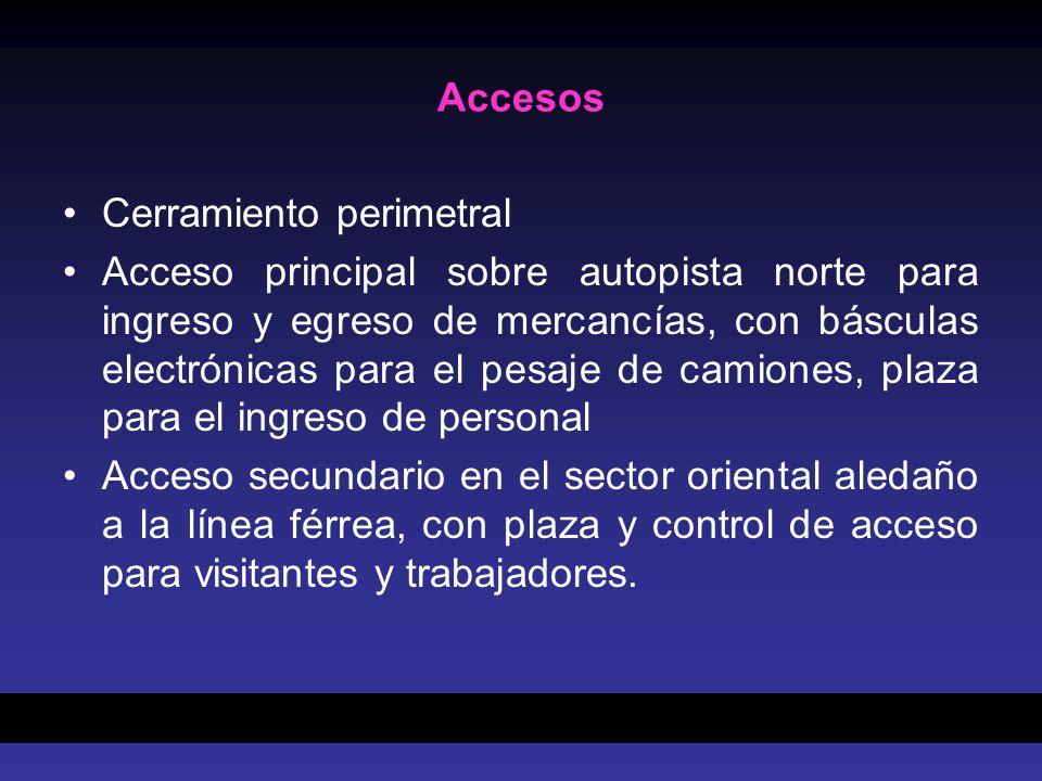 Accesos Cerramiento perimetral.