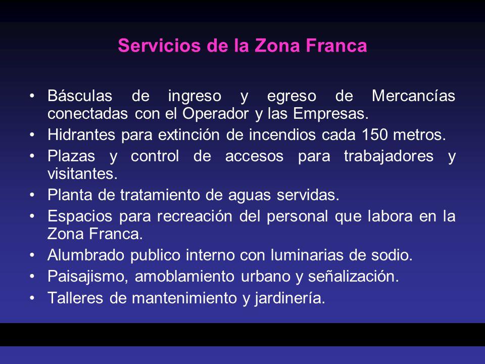 Servicios de la Zona Franca
