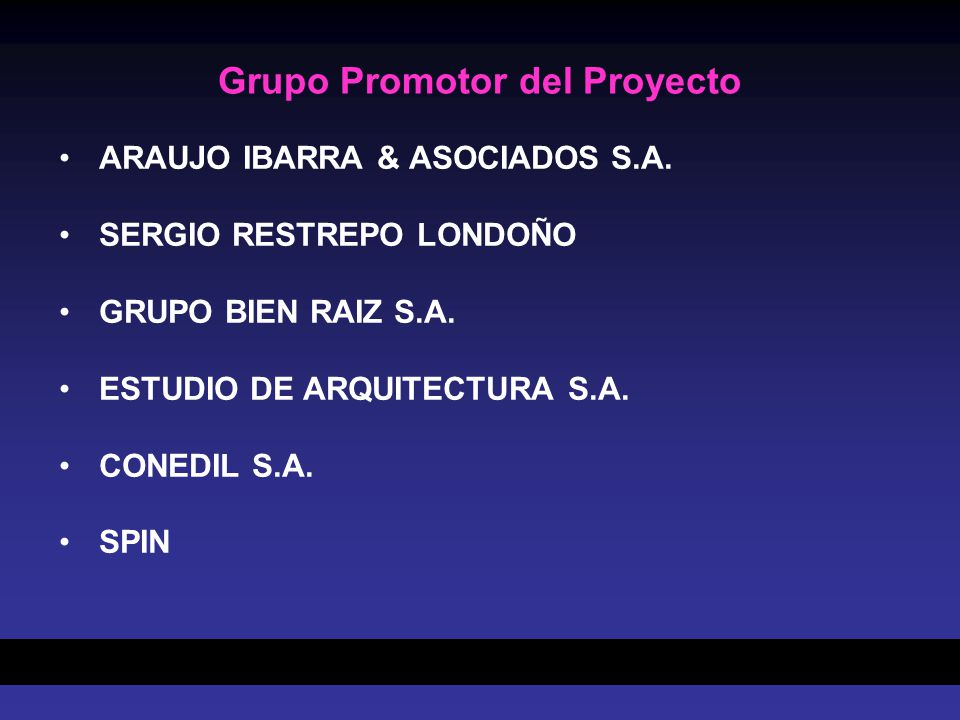 Grupo Promotor del Proyecto