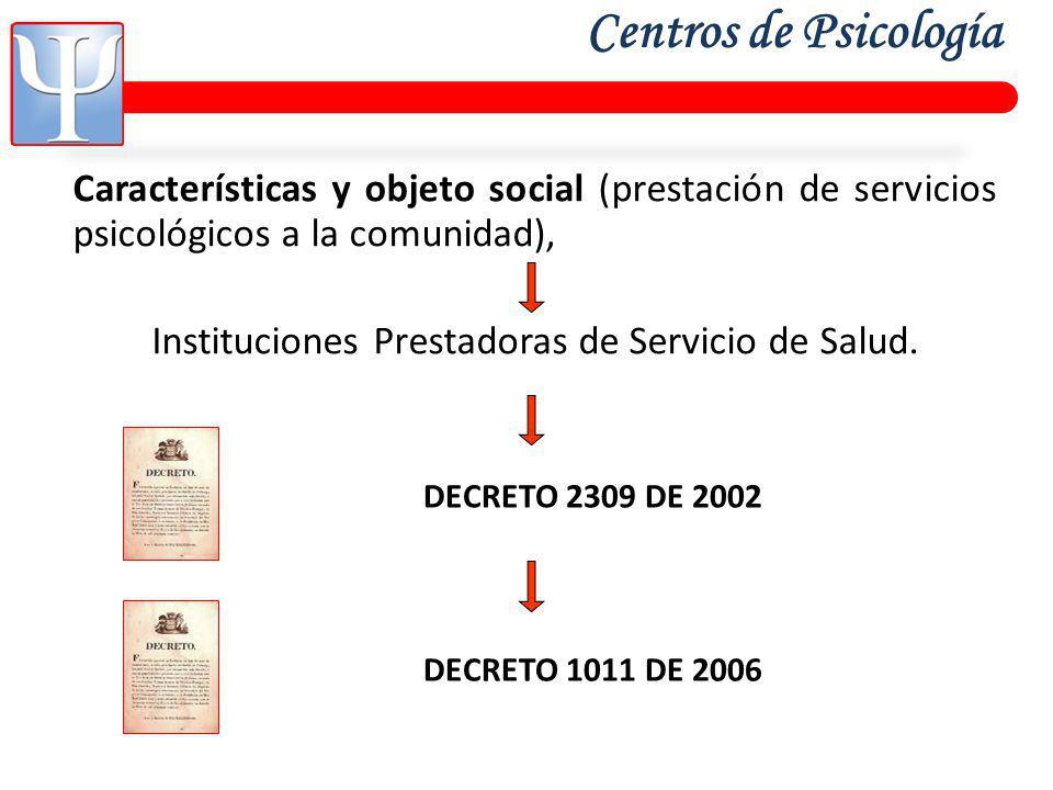 Instituciones Prestadoras de Servicio de Salud.