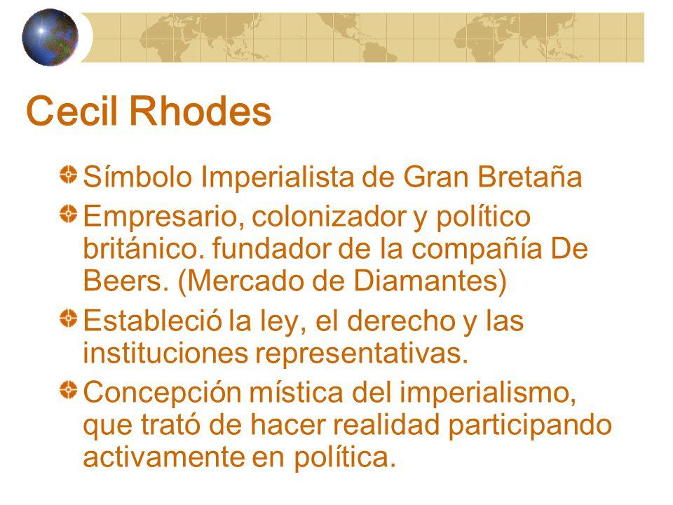 Cecil Rhodes Símbolo Imperialista de Gran Bretaña