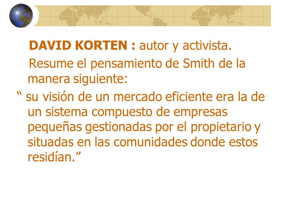 DAVID KORTEN : autor y activista