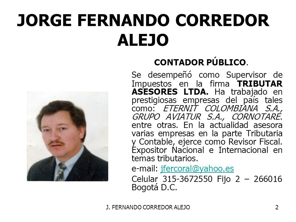 JORGE FERNANDO CORREDOR ALEJO