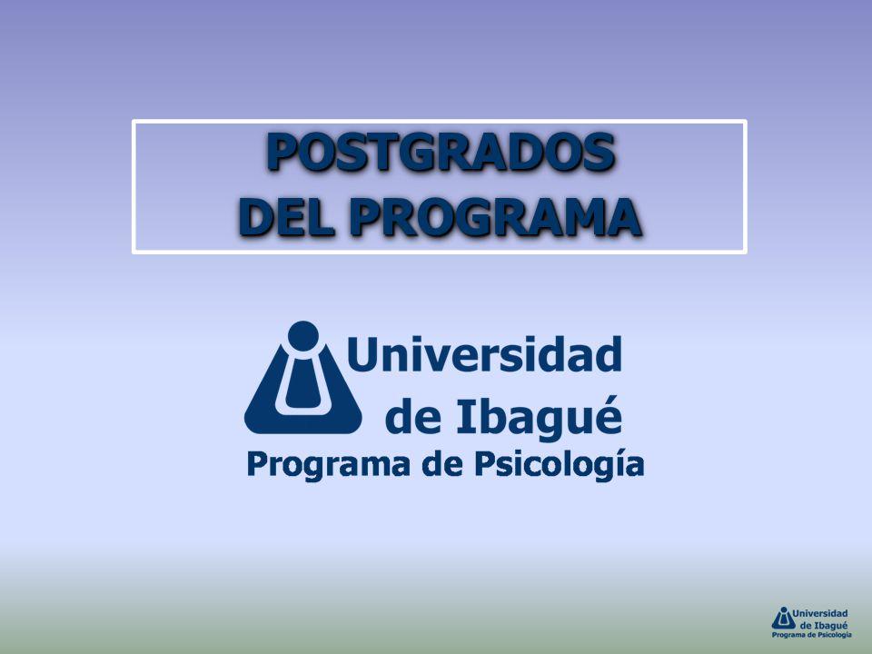 POSTGRADOS DEL PROGRAMA