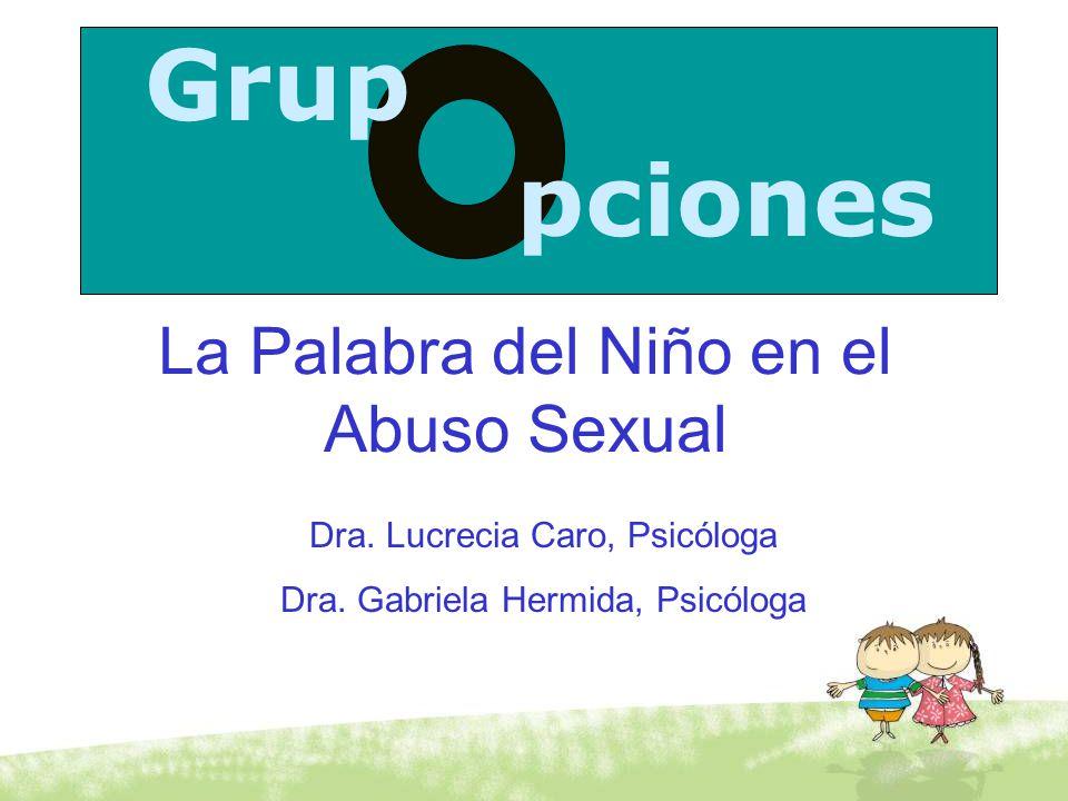 Grup pciones La Palabra del Niño en el Abuso Sexual