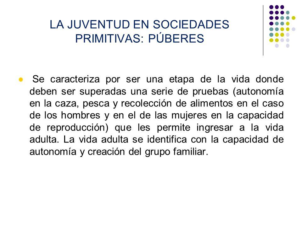 LA JUVENTUD EN SOCIEDADES PRIMITIVAS: PÚBERES