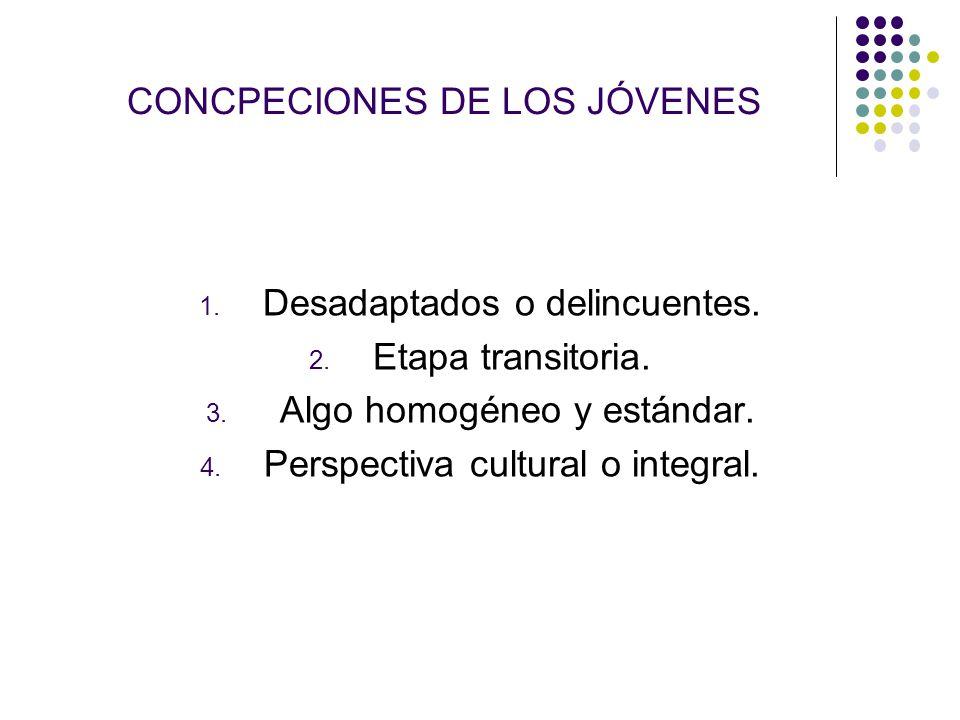 CONCPECIONES DE LOS JÓVENES