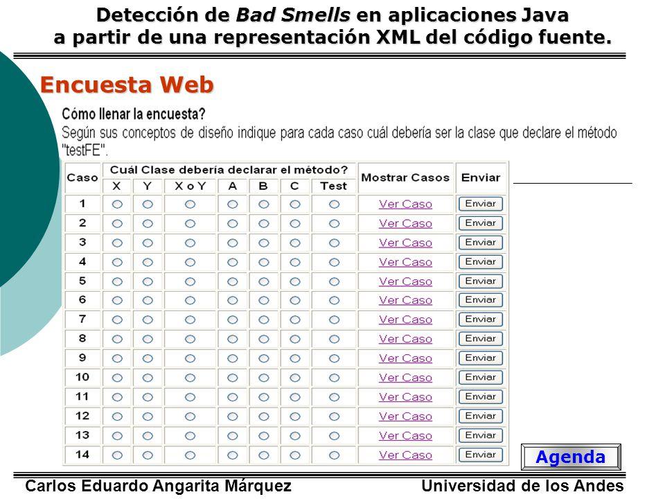Encuesta Web Detección de Bad Smells en aplicaciones Java