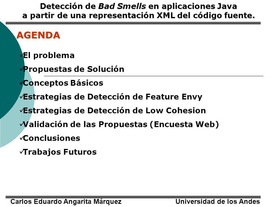 AGENDA Detección de Bad Smells en aplicaciones Java