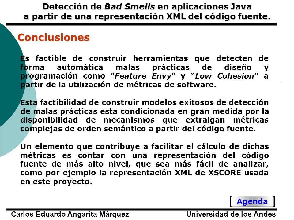 Conclusiones Detección de Bad Smells en aplicaciones Java