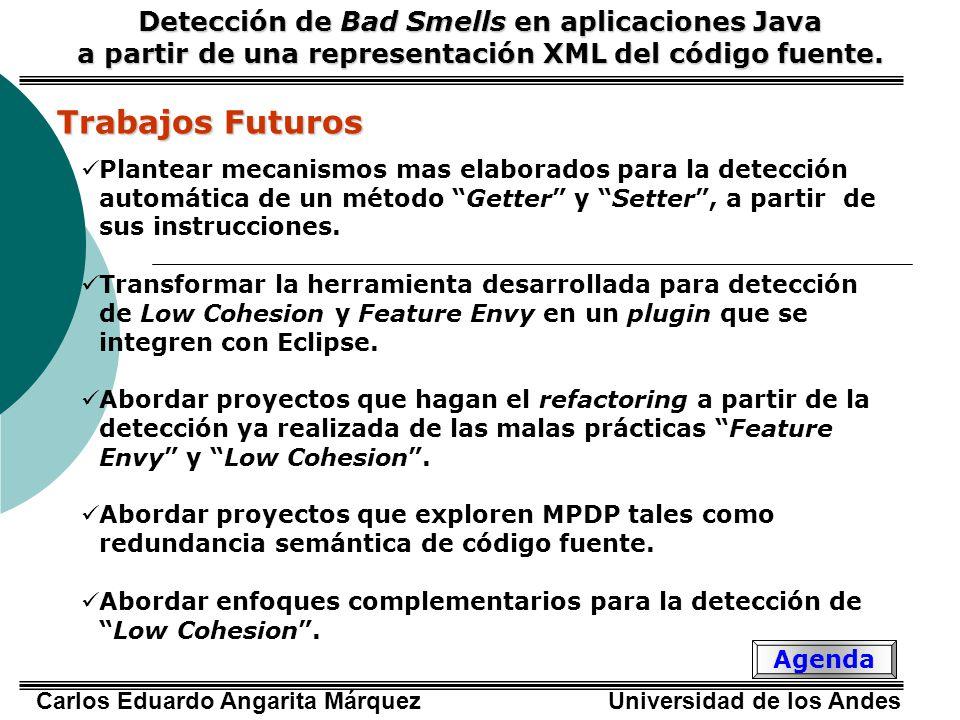 Trabajos Futuros Detección de Bad Smells en aplicaciones Java