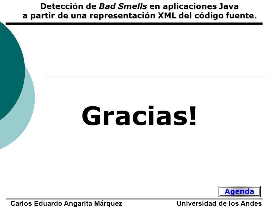 Gracias! Detección de Bad Smells en aplicaciones Java