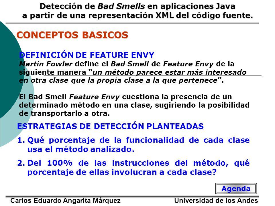 CONCEPTOS BASICOS Detección de Bad Smells en aplicaciones Java