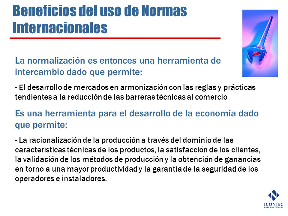 Beneficios del uso de Normas Internacionales