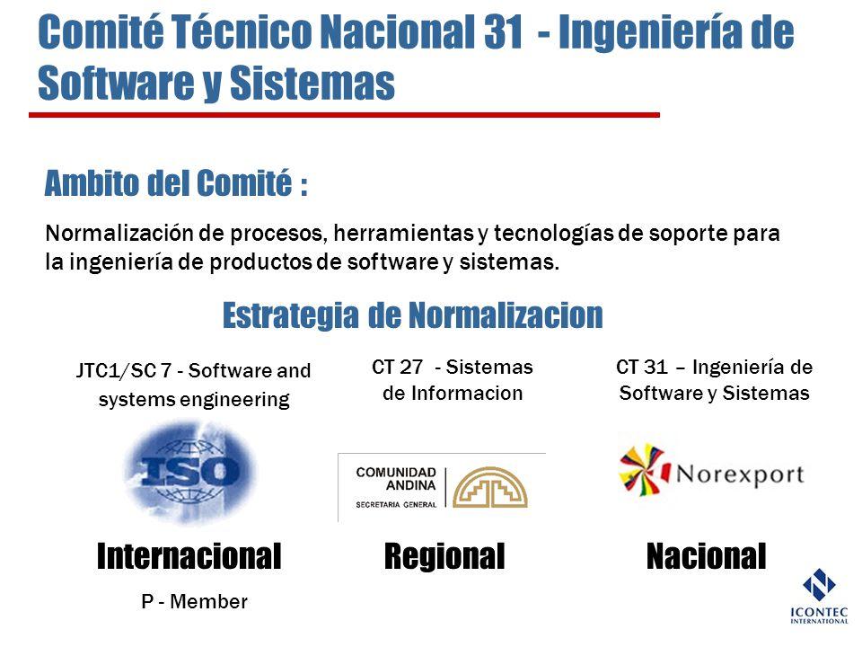 Comité Técnico Nacional 31 - Ingeniería de Software y Sistemas