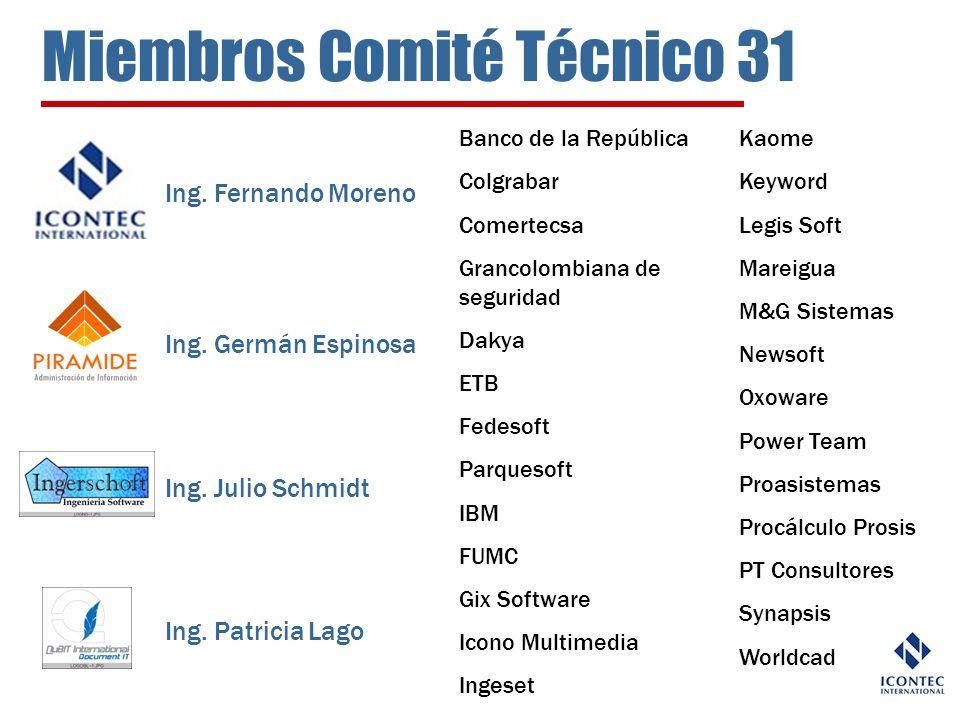 Miembros Comité Técnico 31