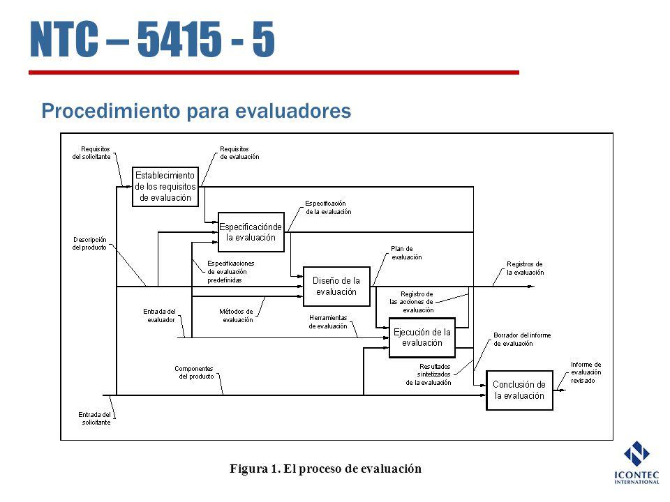 Figura 1. El proceso de evaluación