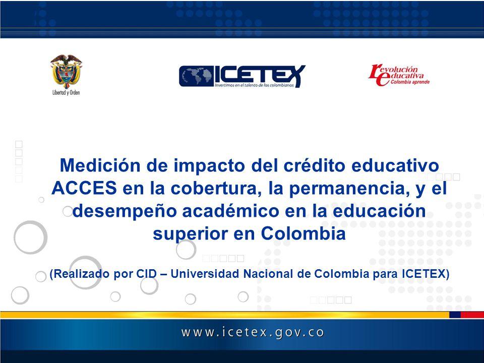 (Realizado por CID – Universidad Nacional de Colombia para ICETEX)