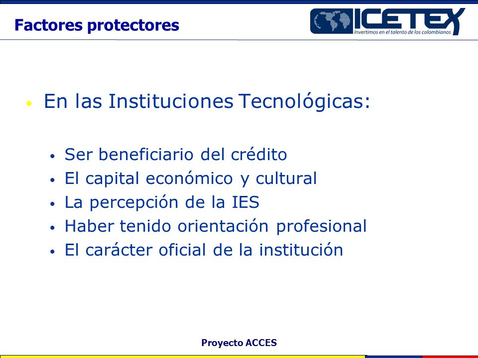 En las Instituciones Tecnológicas: