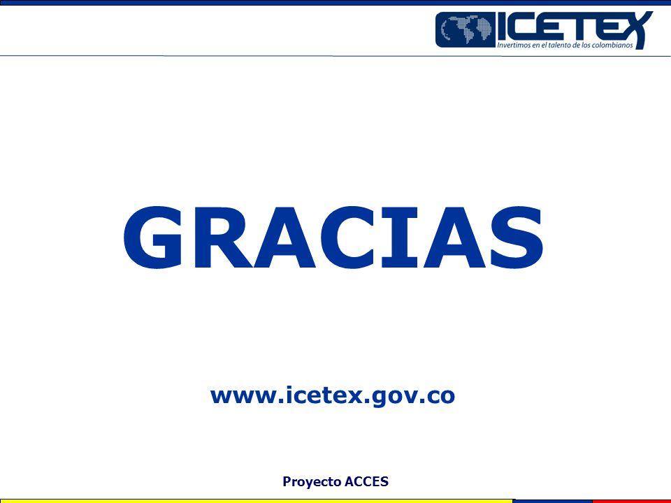 GRACIAS www.icetex.gov.co Proyecto ACCES