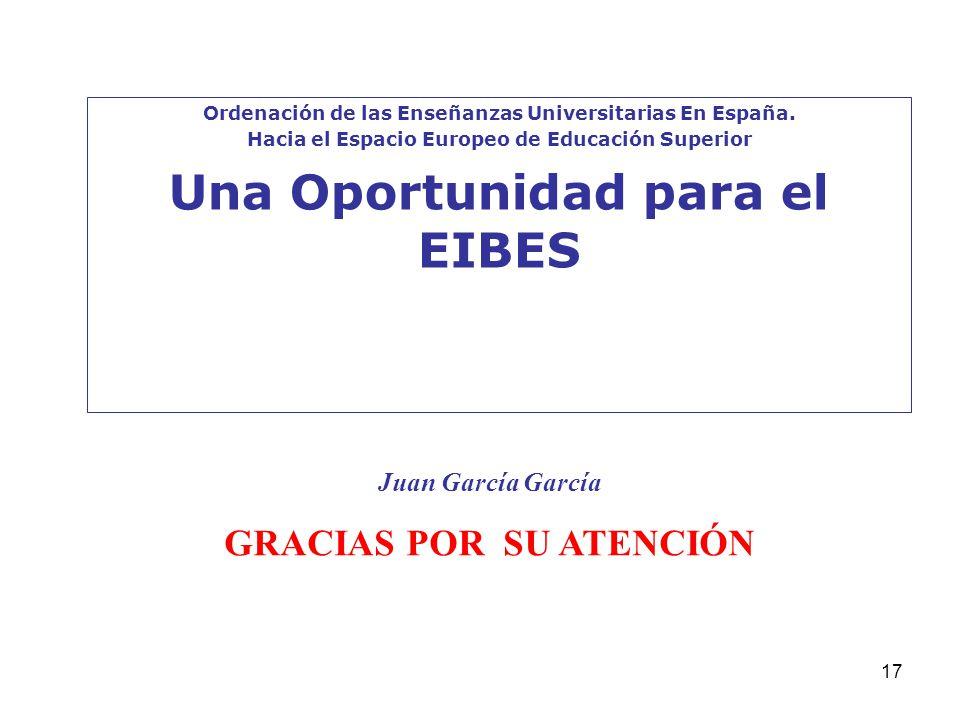 Una Oportunidad para el EIBES