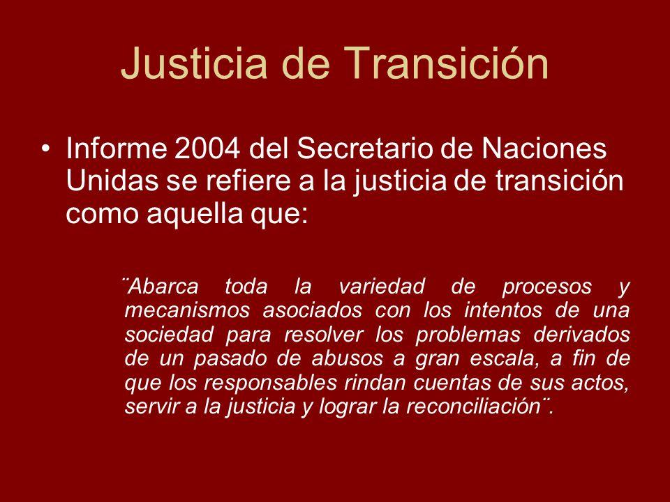 Justicia de Transición