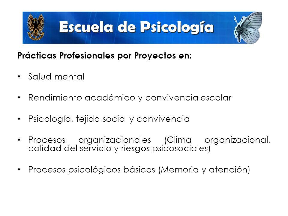 Prácticas Profesionales por Proyectos en: