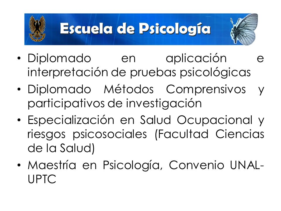 Diplomado en aplicación e interpretación de pruebas psicológicas