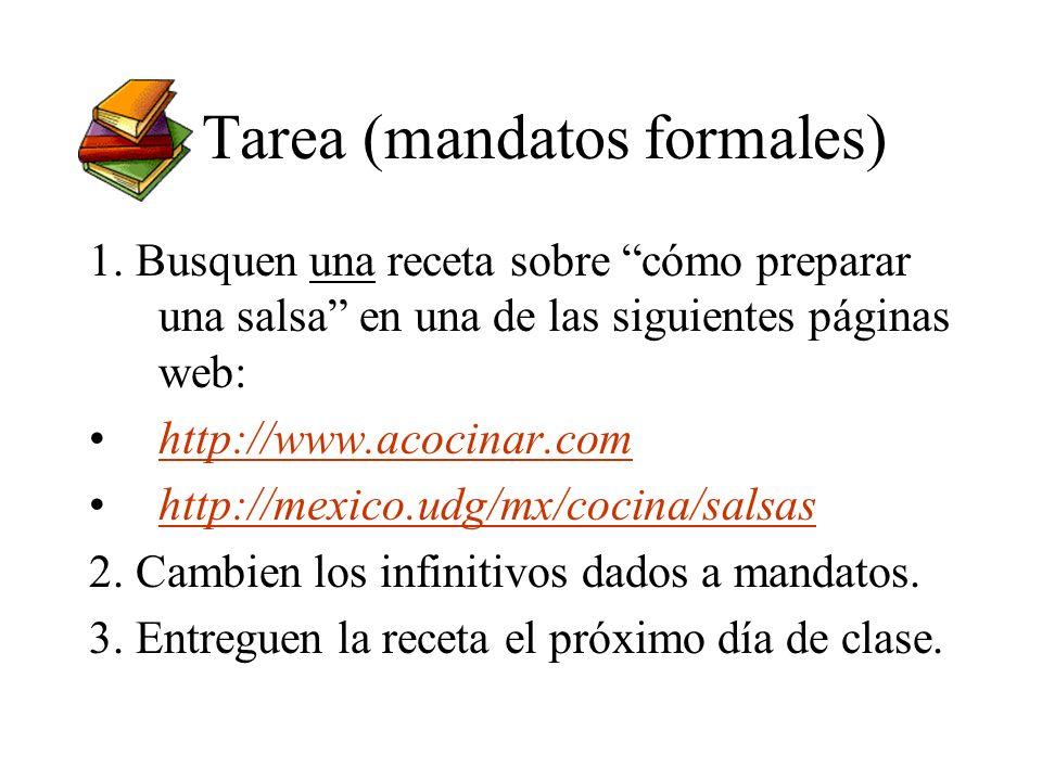 Tarea (mandatos formales)