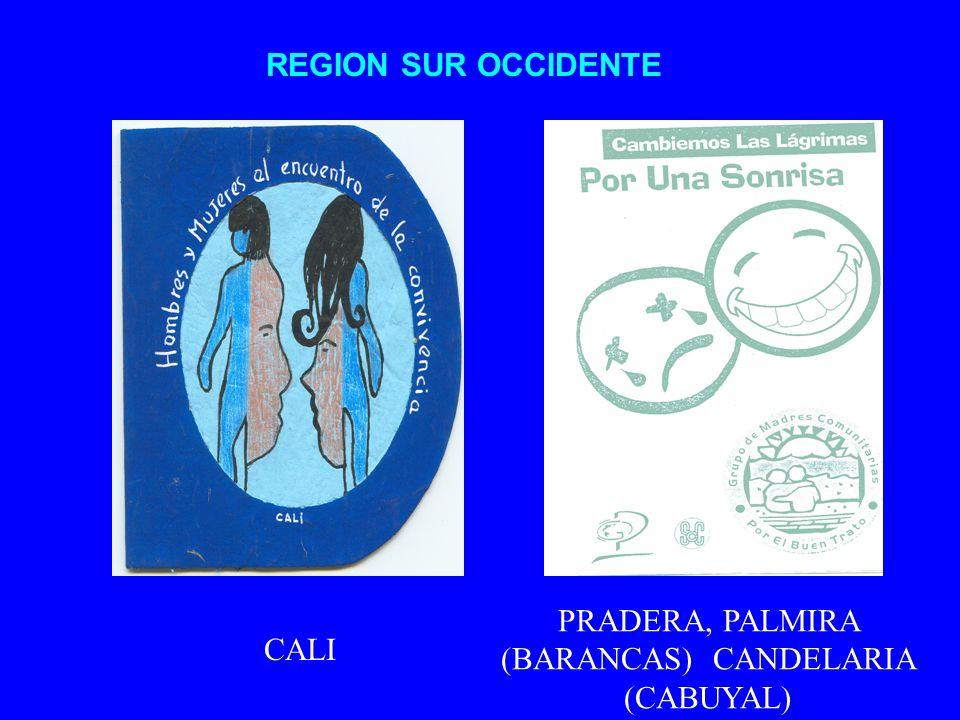 PRADERA, PALMIRA (BARANCAS) CANDELARIA (CABUYAL)