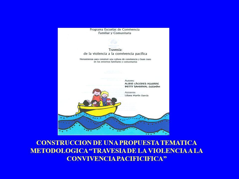CONSTRUCCION DE UNA PROPUESTA TEMATICA METODOLOGICA TRAVESIA DE LA VIOLENCIA A LA CONVIVENCIA PACIFICIFICA