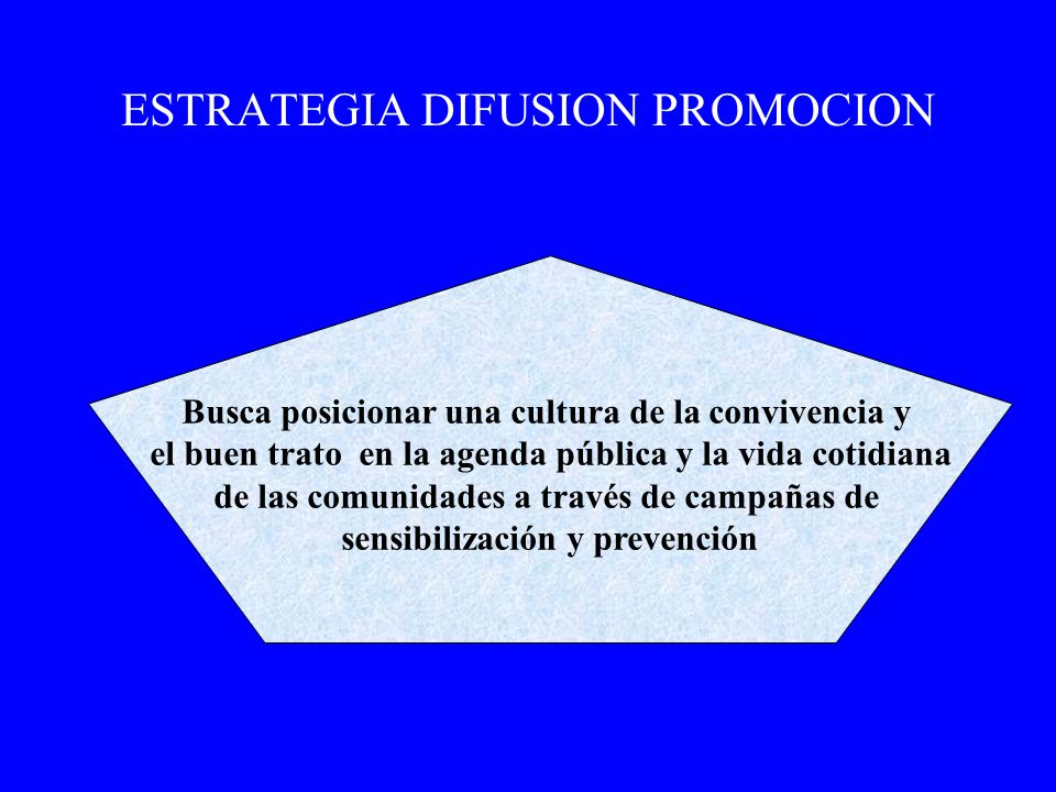 ESTRATEGIA DIFUSION PROMOCION
