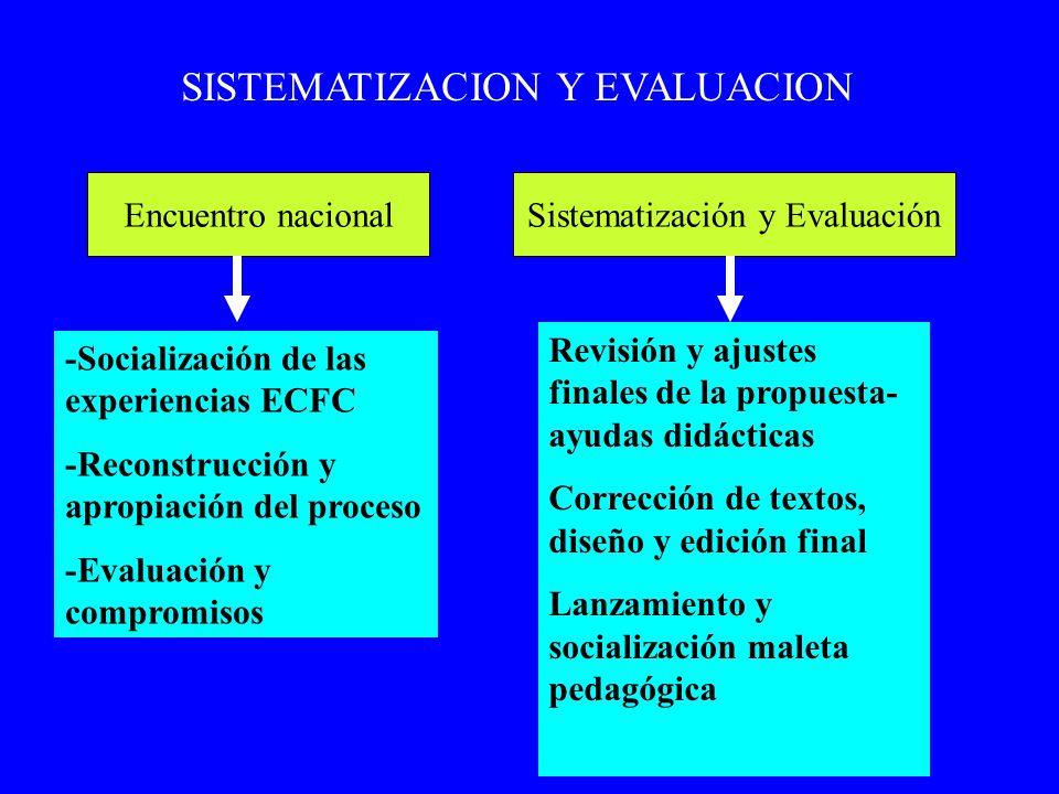 SISTEMATIZACION Y EVALUACION
