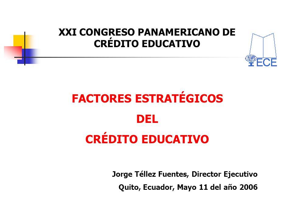 XXI CONGRESO PANAMERICANO DE CRÉDITO EDUCATIVO FACTORES ESTRATÉGICOS