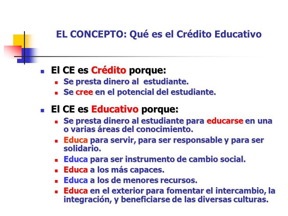 EL CONCEPTO: Qué es el Crédito Educativo