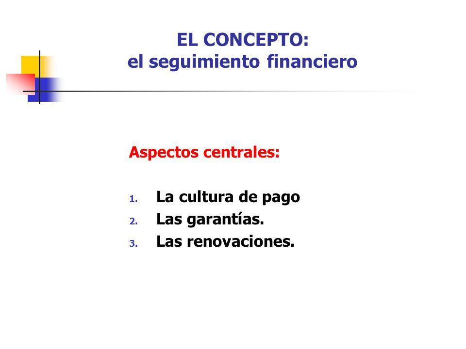 EL CONCEPTO: el seguimiento financiero
