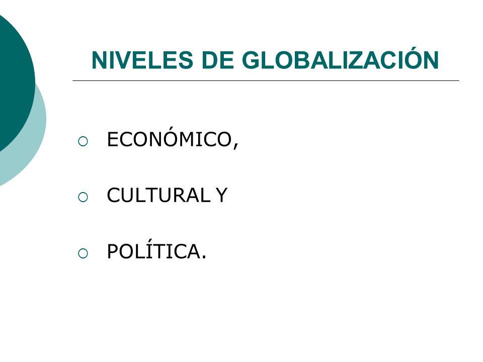 NIVELES DE GLOBALIZACIÓN