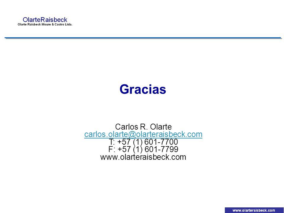 Gracias Carlos R. Olarte carlos.olarte@olarteraisbeck.com