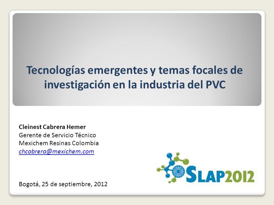 Tecnologías emergentes y temas focales de investigación en la industria del PVC