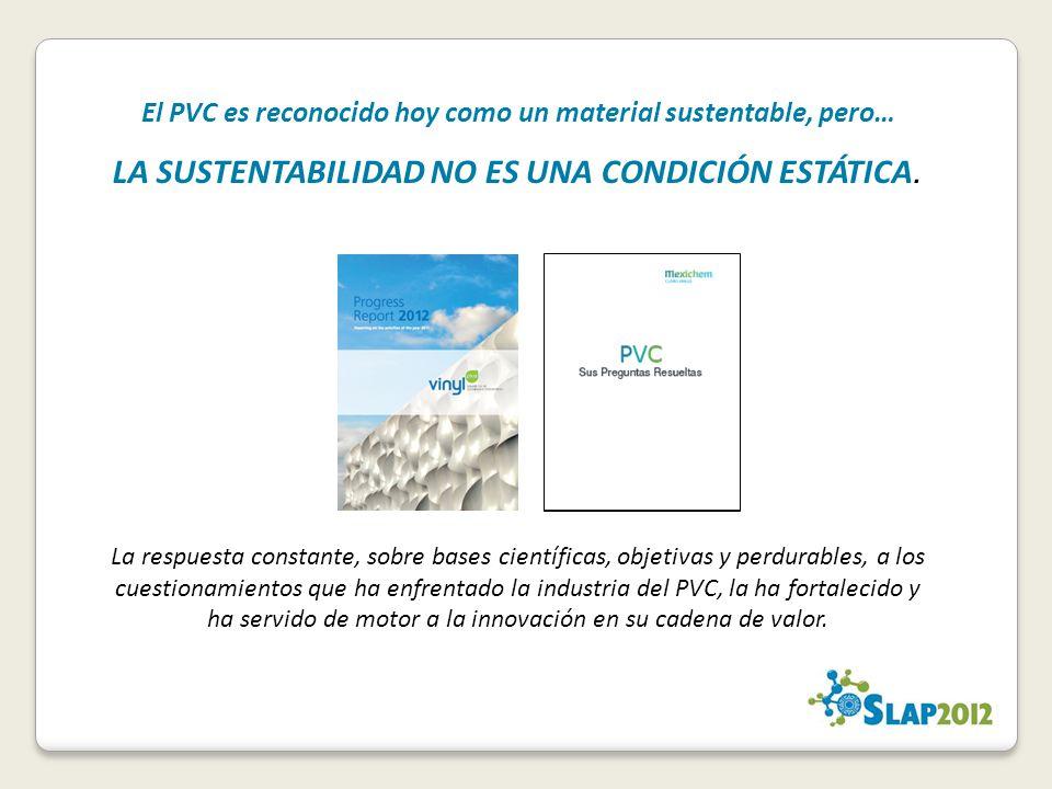 El PVC es reconocido hoy como un material sustentable, pero…