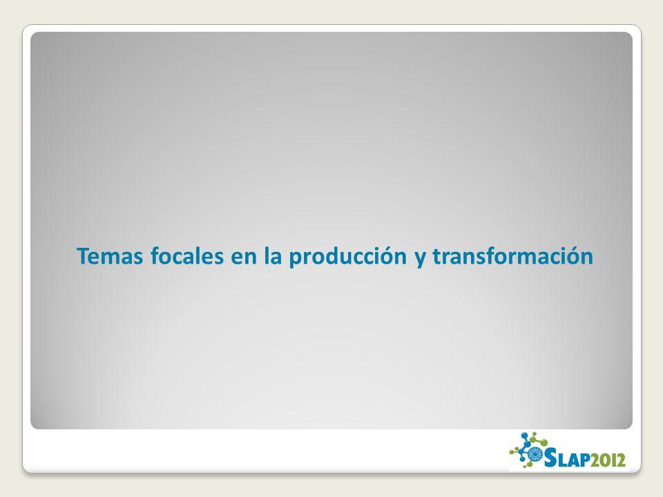 Temas focales en la producción y transformación