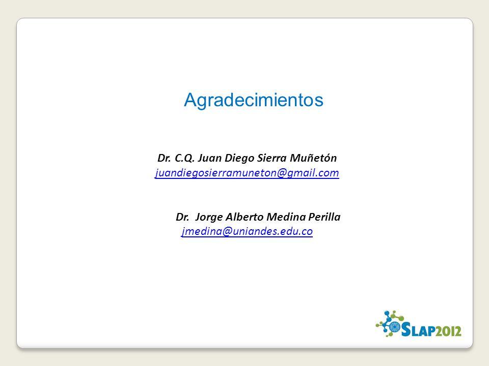 Agradecimientos Dr. C.Q. Juan Diego Sierra Muñetón