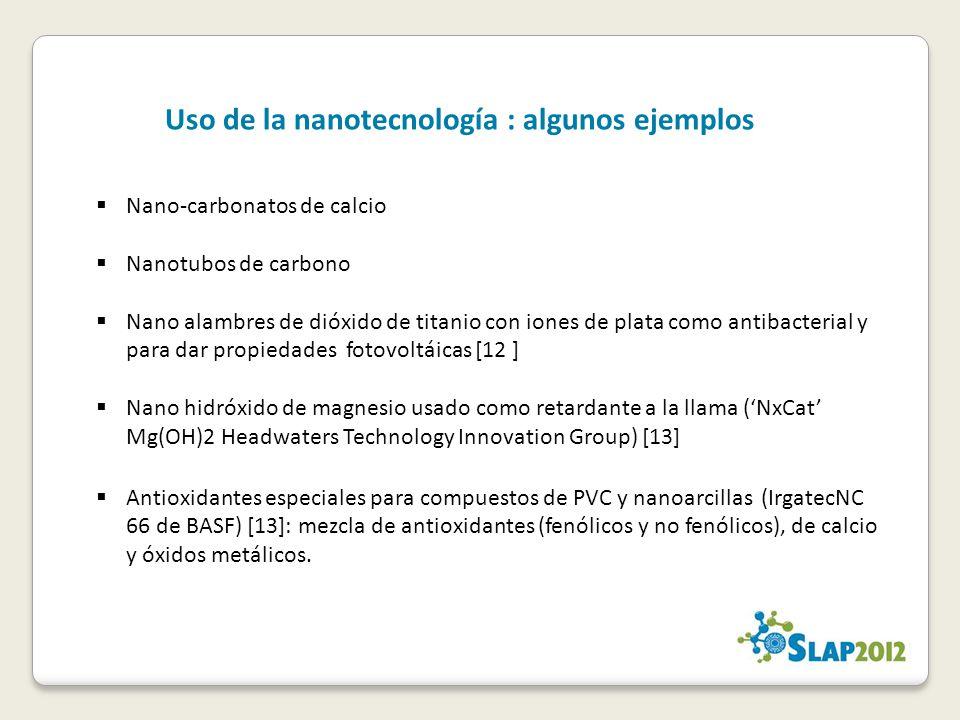 Uso de la nanotecnología : algunos ejemplos