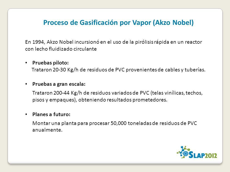 Proceso de Gasificación por Vapor (Akzo Nobel)