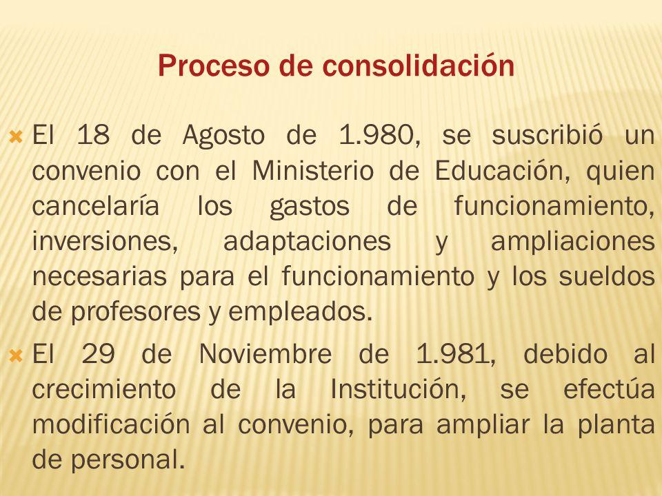 Proceso de consolidación