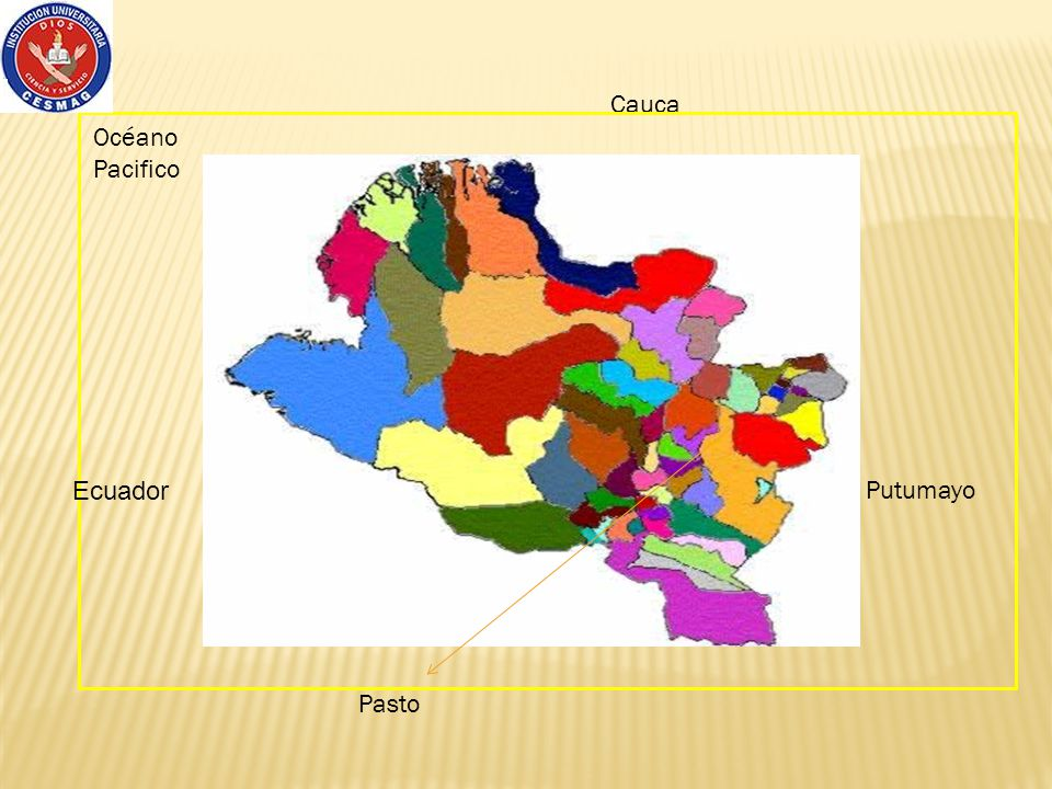 Cauca Océano Pacifico Ecuador Putumayo Pasto