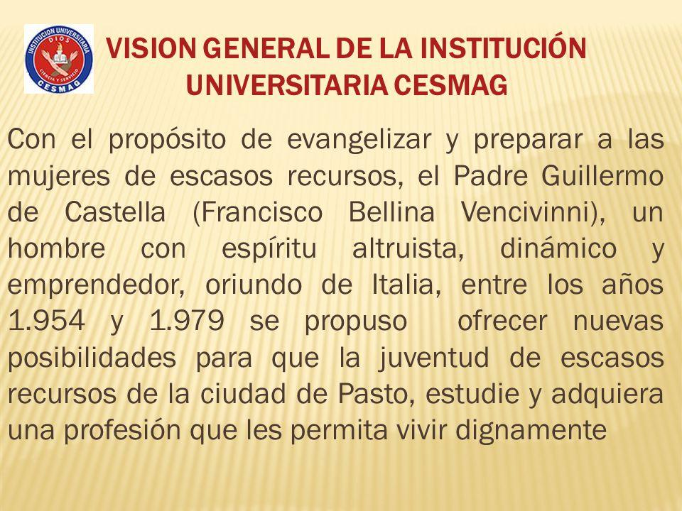 VISION GENERAL DE LA INSTITUCIÓN UNIVERSITARIA CESMAG