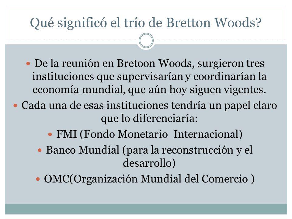 Qué significó el trío de Bretton Woods