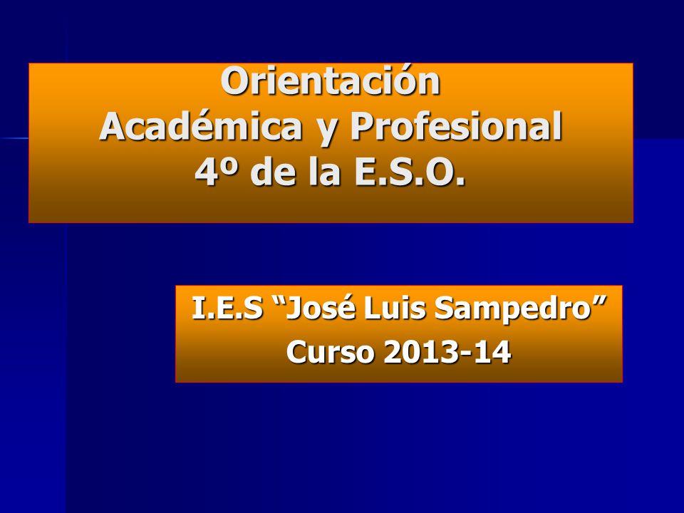 Orientación Académica y Profesional 4º de la E.S.O.