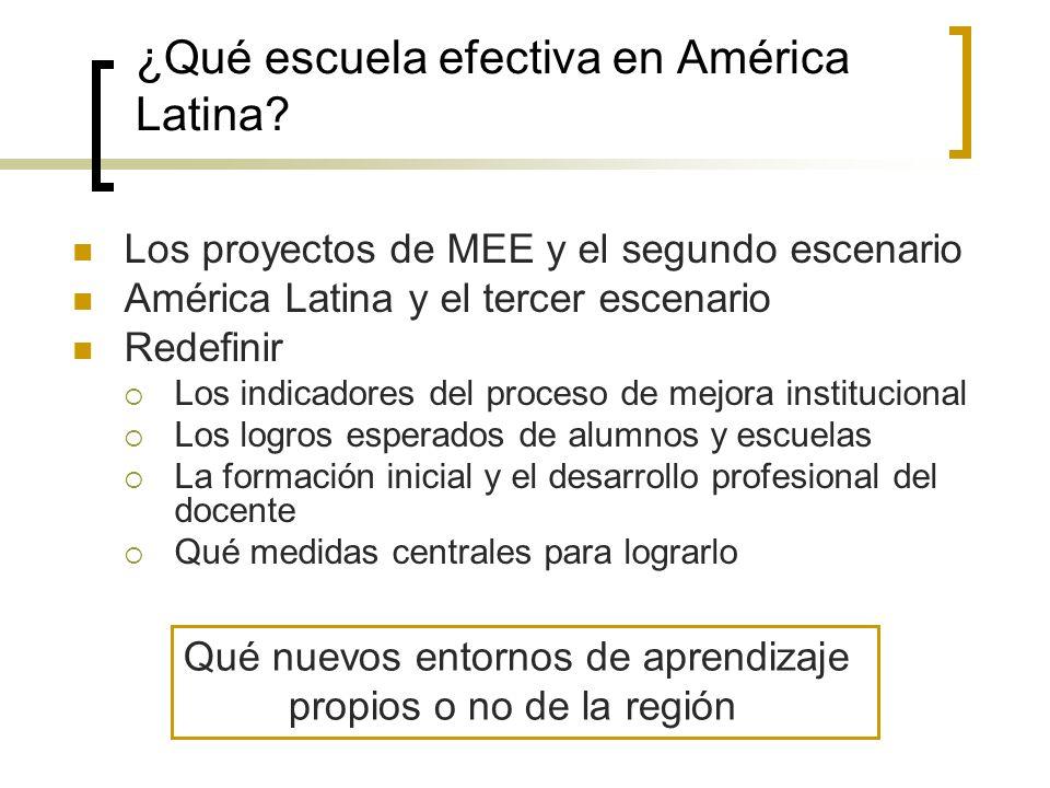 ¿Qué escuela efectiva en América Latina